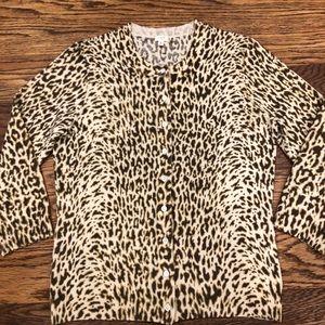 J.Crew NWOT chic leopard print cardigan